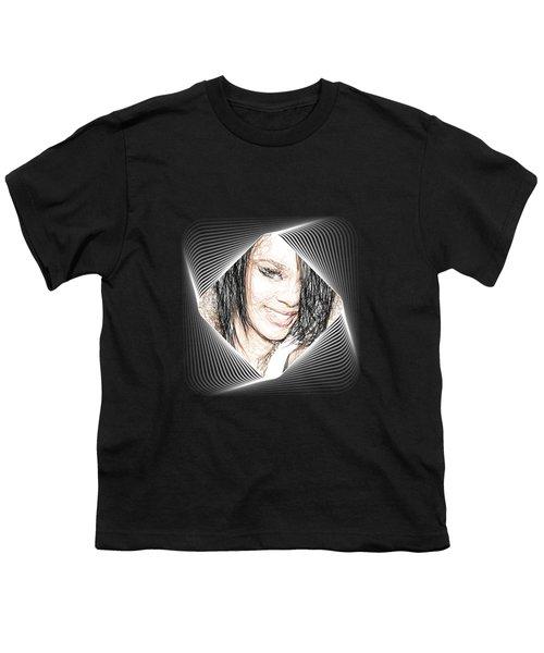 Rihanna  Youth T-Shirt by Raina Shah