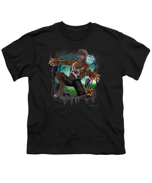 Rip Roaring Werewolf Youth T-Shirt by Glenn Holbrook