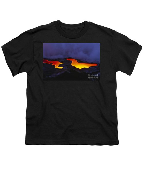 River Of Lava Youth T-Shirt by Peter French - Printscapes