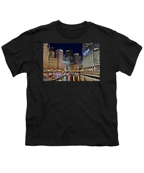 River View Of The Windy City Youth T-Shirt by Frozen in Time Fine Art Photography