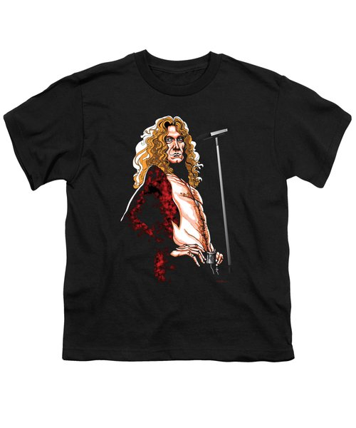 Robert Plant Of Led Zeppelin Youth T-Shirt by GOP Art