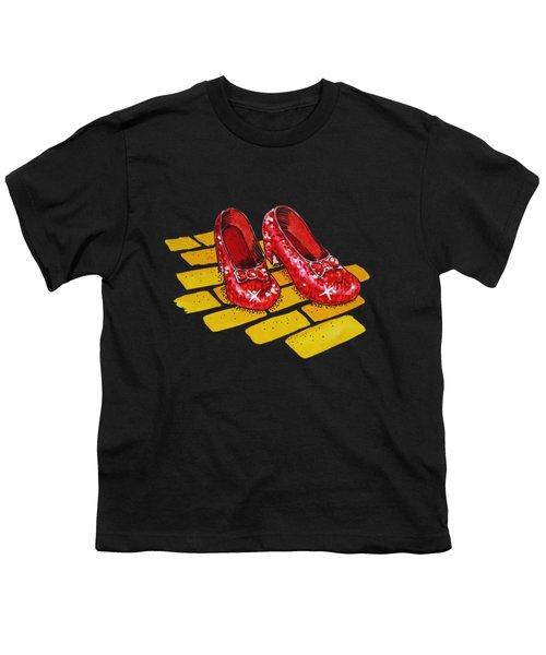 Ruby Slippers From Wizard Of Oz Youth T-Shirt by Irina Sztukowski