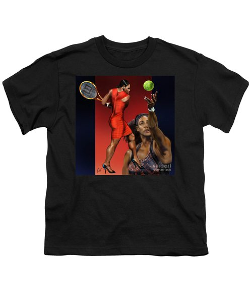 Sensuality Under Extreme Power - Serena The Shape Of Things To Come Youth T-Shirt by Reggie Duffie