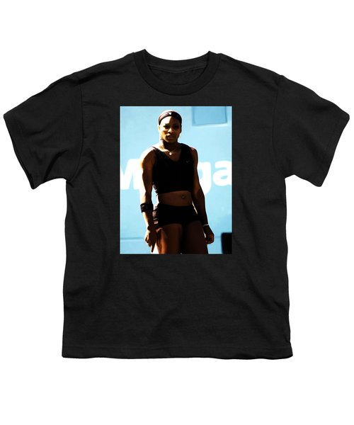 Serena Williams Match Point IIi Youth T-Shirt by Brian Reaves
