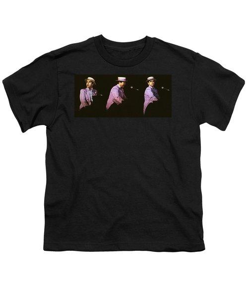 Sir Elton John 3 Youth T-Shirt by Dragan Kudjerski