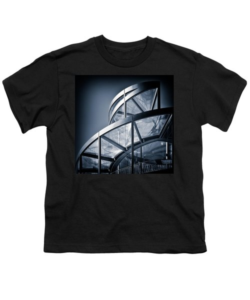 Spiral Staircase Youth T-Shirt by Dave Bowman