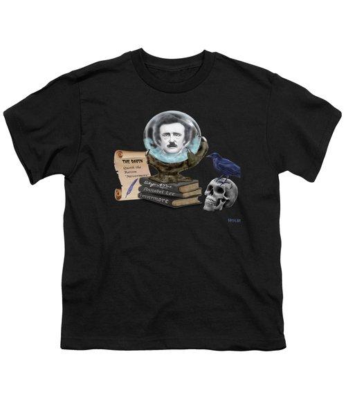 Spirit Of Edgar A. Poe Youth T-Shirt by Glenn Holbrook