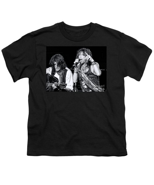 Steven Tyler Croons Youth T-Shirt by Traci Cottingham