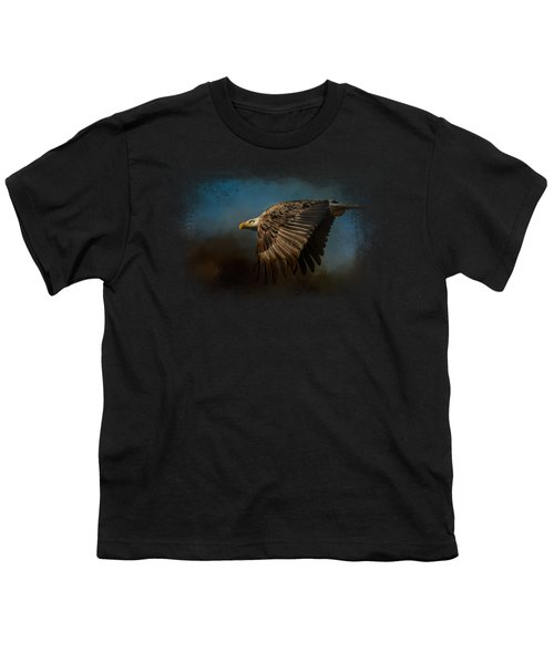 Storm Chaser - Bald Eagle Youth T-Shirt by Jai Johnson