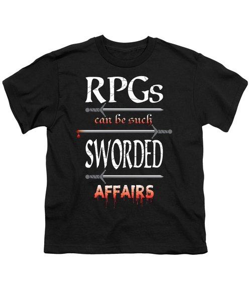 Sworded Affairs Youth T-Shirt by Jon Munson II