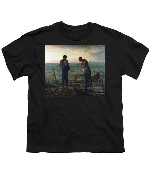 The Angelus Youth T-Shirt by Jean-Francois Millet