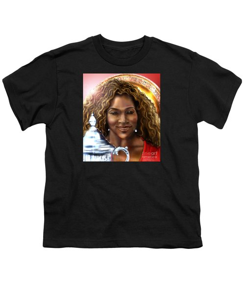 The Beauty Victory That Is Serena Youth T-Shirt by Reggie Duffie