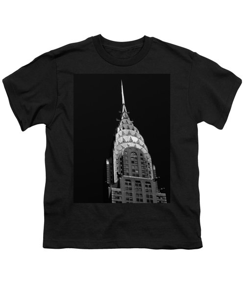 The Chrysler Building Youth T-Shirt by Vivienne Gucwa