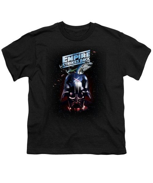 The Empire Strikes Back Youth T-Shirt by Edward Draganski