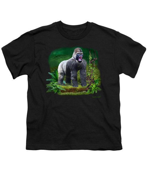 The Guardian Of The Rain Forest Youth T-Shirt by Glenn Holbrook