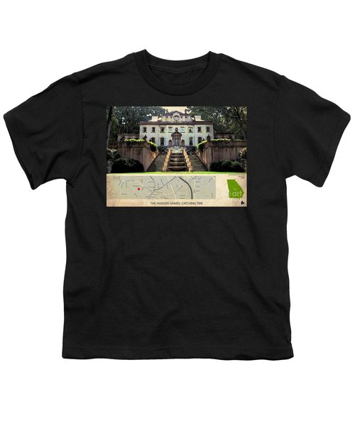The Hunger Games Catching Fire Movie Location And Map Youth T-Shirt by Pablo Franchi