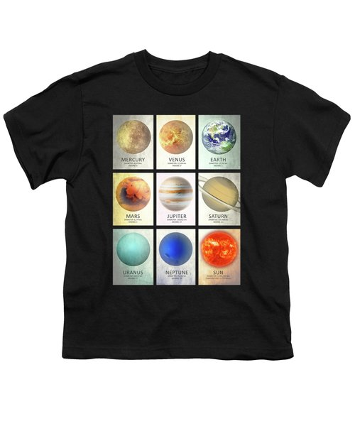 The Planets Youth T-Shirt by Mark Rogan