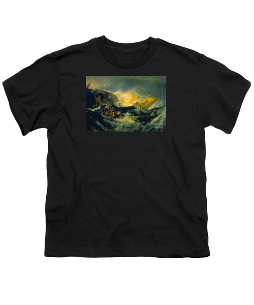 The Shipwreck Of The Minotaur Youth T-Shirt by MotionAge Designs
