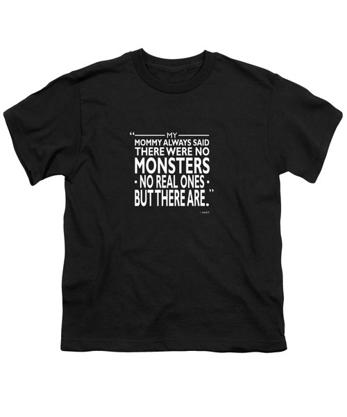 There Were No Monsters Youth T-Shirt by Mark Rogan