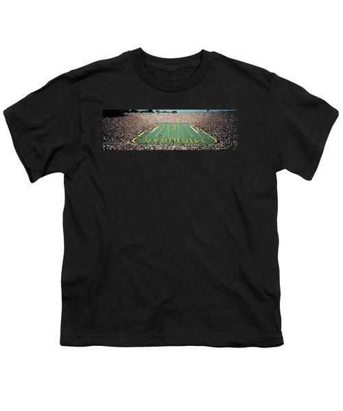 University Of Michigan Stadium, Ann Youth T-Shirt by Panoramic Images
