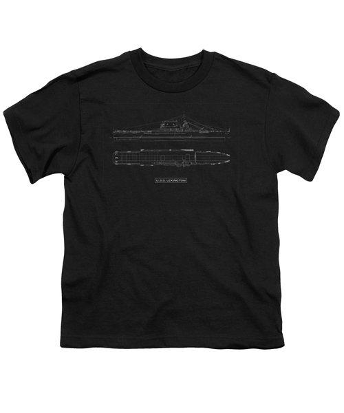 Uss Lexington Youth T-Shirt by DB Artist
