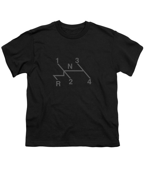Volkswagen 4 Speed Shift Pattern Youth T-Shirt by Ed Jackson