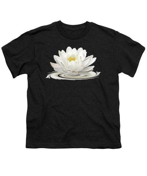 Water Lily Whirl Youth T-Shirt by Gill Billington