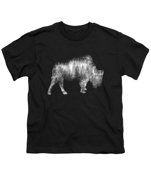 Wild Bison Youth T-Shirt by Diana Van