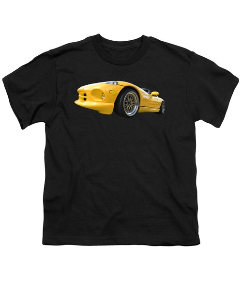 Yellow Viper Rt10 Youth T-Shirt by Gill Billington