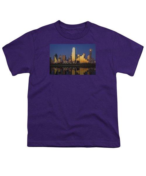 Dallas At Dusk Youth T-Shirt by Rick Berk