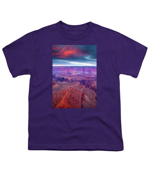 Red Rock Dusk Youth T-Shirt by Mike  Dawson