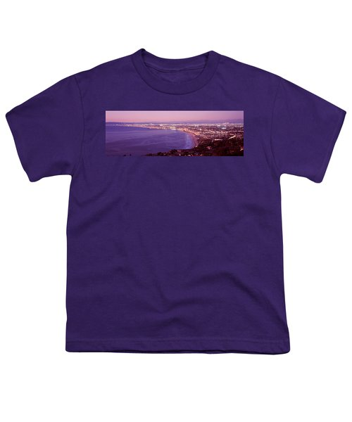 View Of Los Angeles Downtown Youth T-Shirt by Panoramic Images