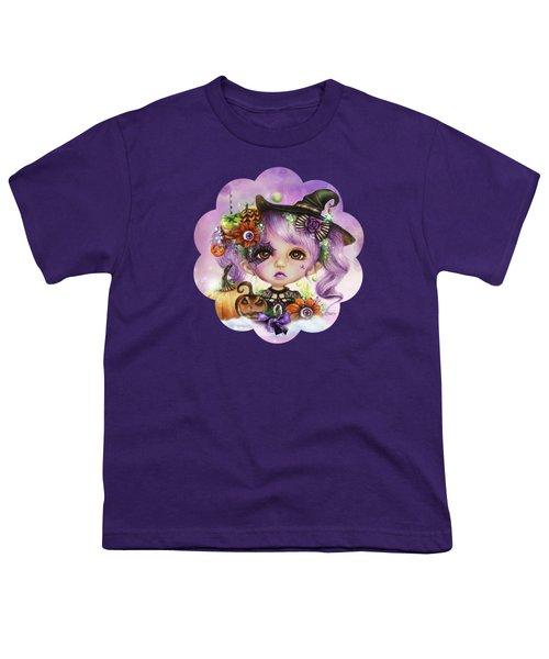Halloween Hannah - Munchkinz Character  Youth T-Shirt by Sheena Pike