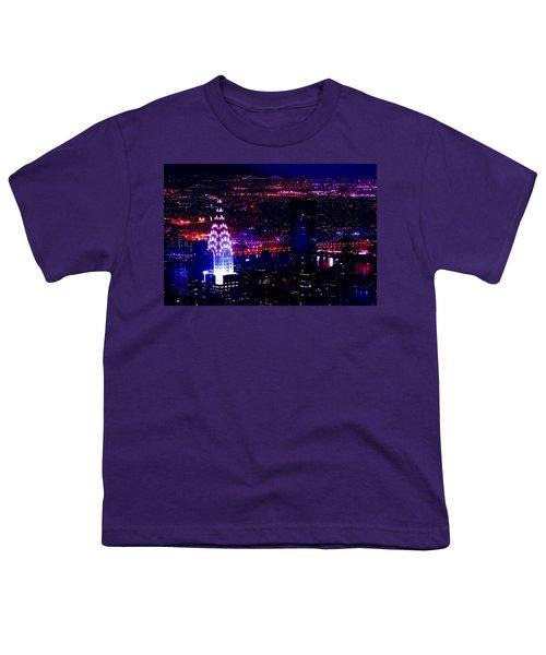 Beautiful Manhattan Skyline Youth T-Shirt by Az Jackson