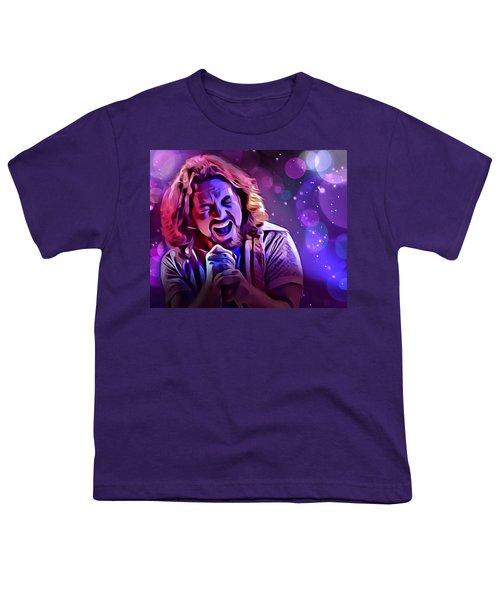 Eddie Vedder Portrait Youth T-Shirt by Scott Wallace