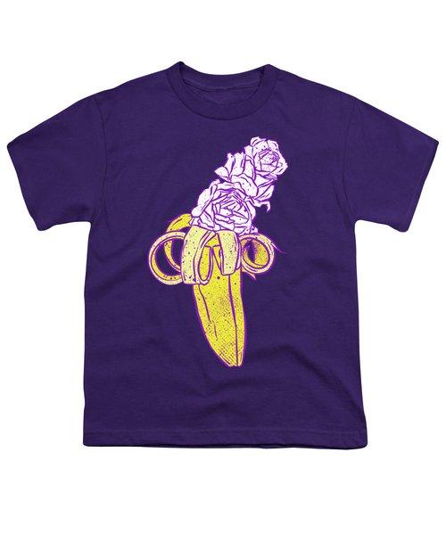 Floral Banana Youth T-Shirt by Evgenia Chuvardina
