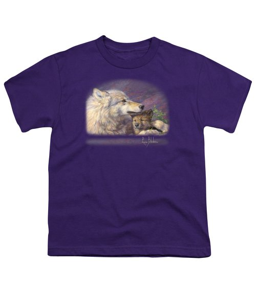 Mother's Love Youth T-Shirt by Lucie Bilodeau