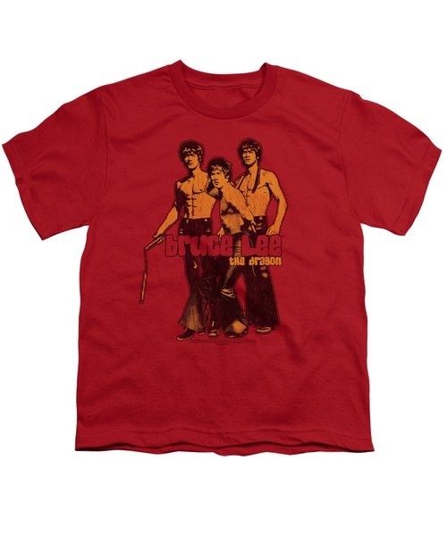 Bruce Lee - Nunchucks Youth T-Shirt by Brand A