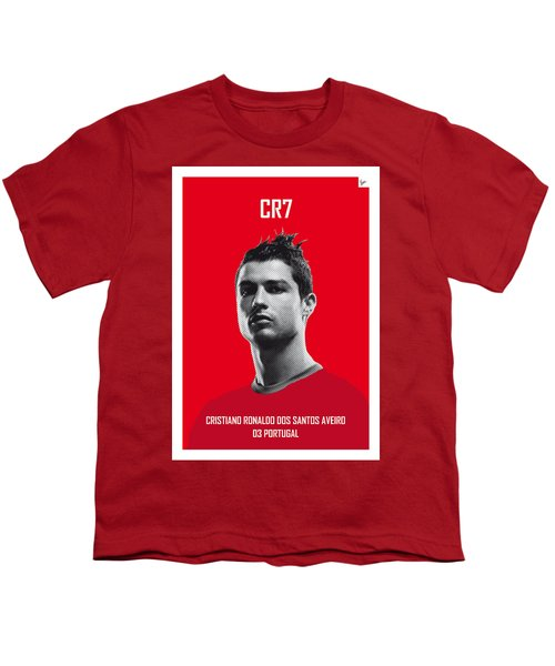 My Ronaldo Soccer Legend Poster Youth T-Shirt by Chungkong Art
