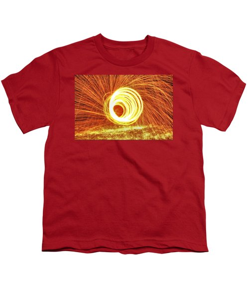 Shooting Sparks Youth T-Shirt by Dan Sproul