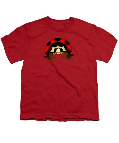Red Bug Youth T-Shirt by Sarah Greenwell