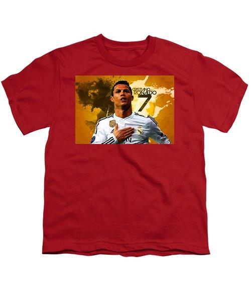 Cristiano Ronaldo Youth T-Shirt by Semih Yurdabak