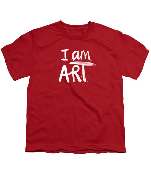 I Am Art- Painted Youth T-Shirt by Linda Woods