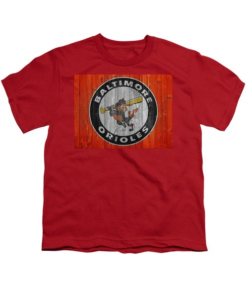 Baltimore Orioles Graphic Barn Door Youth T-Shirt by Dan Sproul