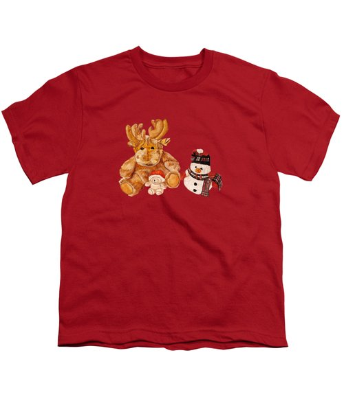 Christmas Buddies Youth T-Shirt by Angeles M Pomata