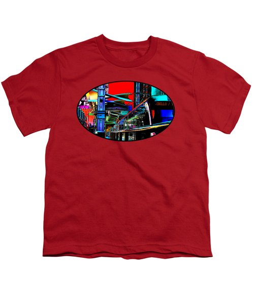 City Tansit Pop Art Youth T-Shirt by Phyllis Denton