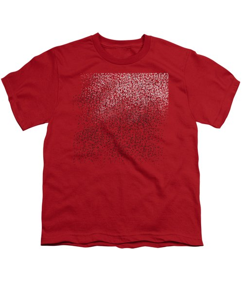 Cloud Of Birds Red Sky Youth T-Shirt by Sverre Andreas Fekjan