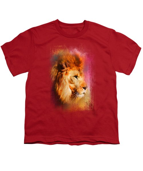 Colorful Expressions Lion Youth T-Shirt by Jai Johnson