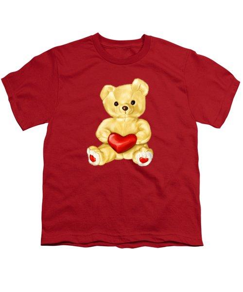 Cute Teddy Bear Hypnotist Youth T-Shirt by Boriana Giormova