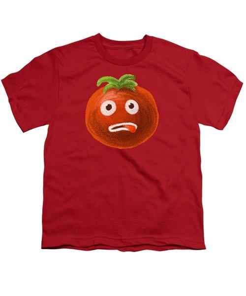 Funny Tomato Youth T-Shirt by Boriana Giormova
